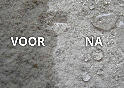 betonnen terras waterdicht beton waterdicht maken - voor en na behandeling