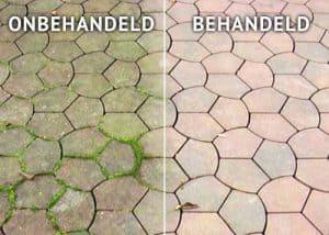 betonnen terras behandeld-onbehandeld