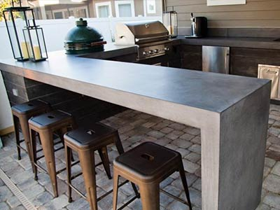 Countertop Pro, betonnen werkblad buitenkeuken behandelen, betonnen buitenkeuken behandelen