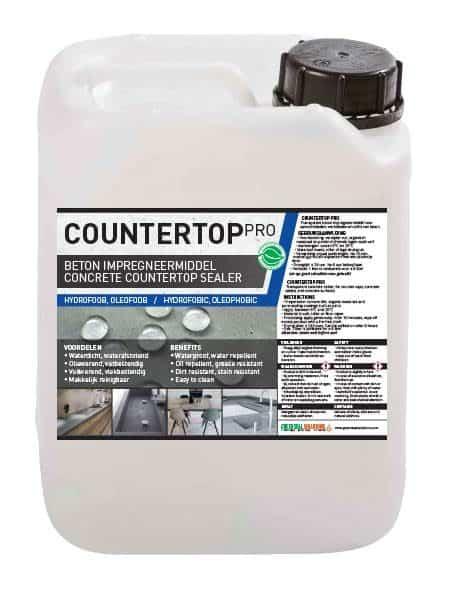 Countertop Pro, betonnen werkblad sealer, betonnen werkblad impregneermiddel, beton keukenblad impregneren, beton aanrechtblad sealer, beton aanrechtblad impregneermiddel, beton impregneren, beton impregneermiddel