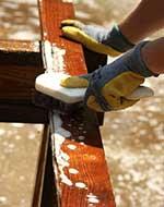 hout schoonmaken voor impregneren