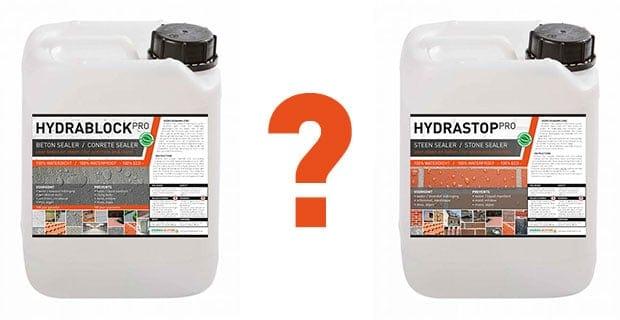 Hydrablock vs Hydrastop - overeenkomsten en verschillen