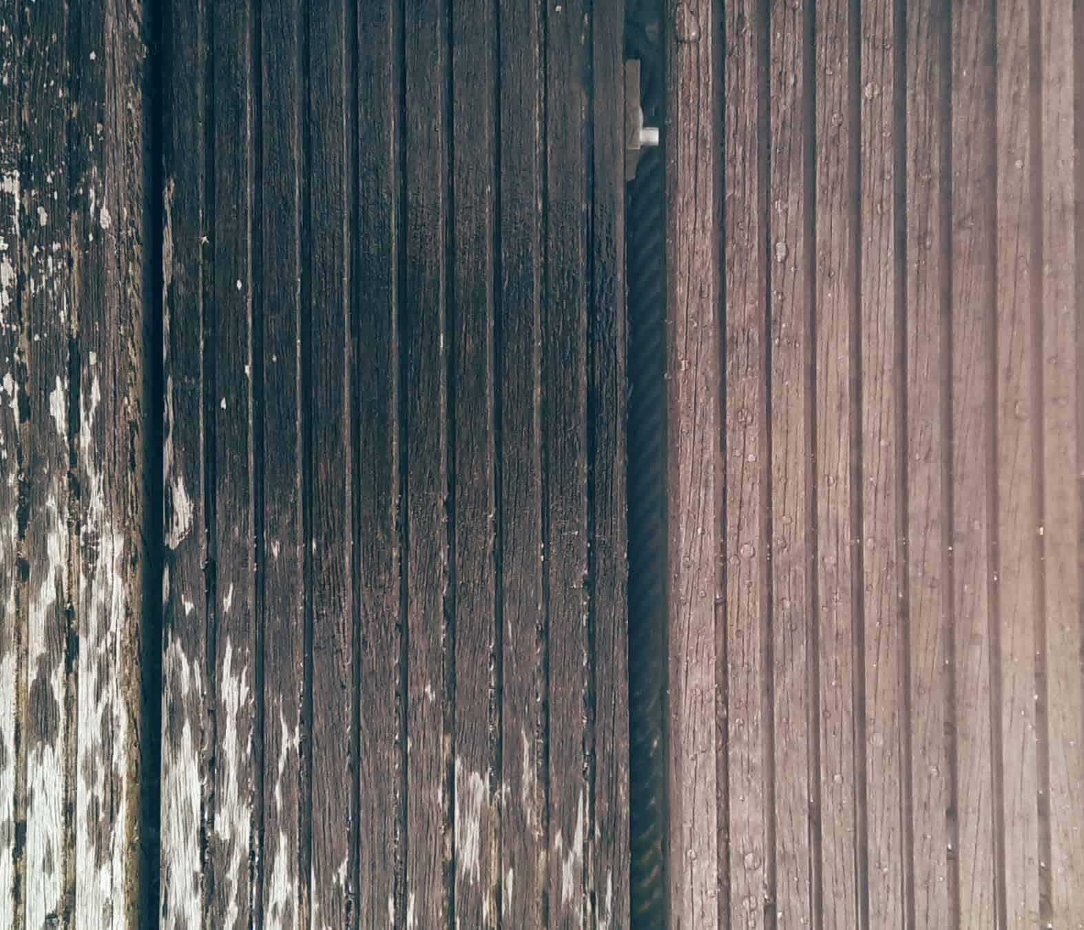 steigerhout schoonmaken, hout schoonmaken, tergeo wood cleaner, houten vlonder schoonmaken