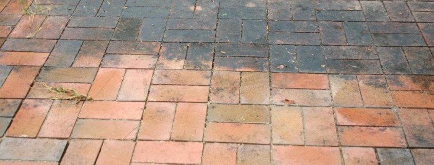 Terras schoonmaken, terras reinigen, terrastegels schoonmaken