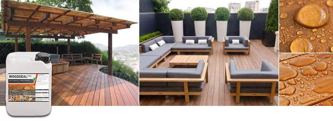 Woodseal terras patio impregneermiddel hout